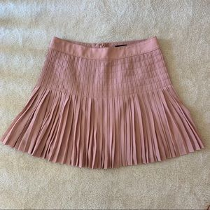 J crew rose colored pleated skirt size 12